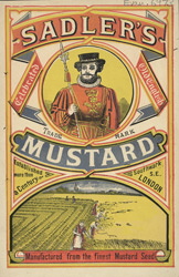 Advert for Sadler's Mustard